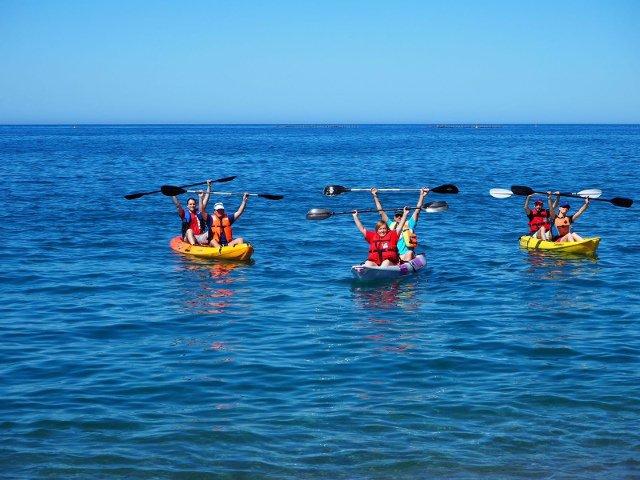 Navegando en Kayak en Salobreña