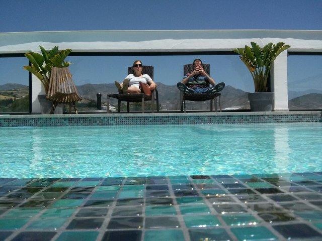 Momento de relajarnos en Hotel Miba Salobreña