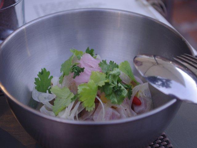 Ceviche de pez espada en el Restaurante Kava Marbella