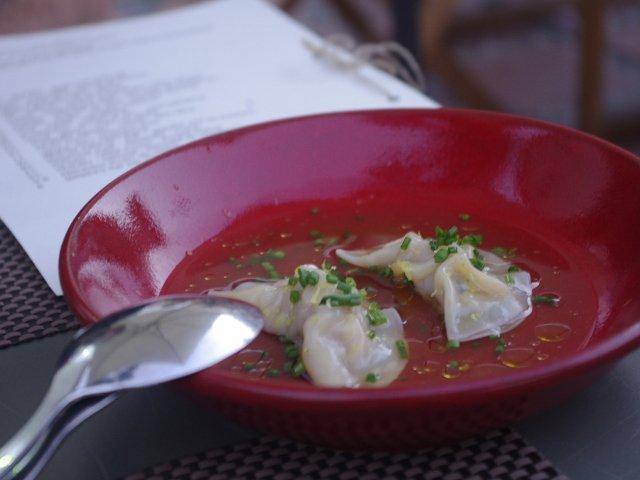 Dim sum de cordero en el Restaurante Kava Marbella