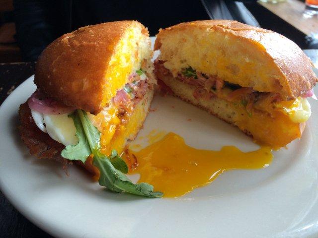 Egg sandwich Montana's Trail House