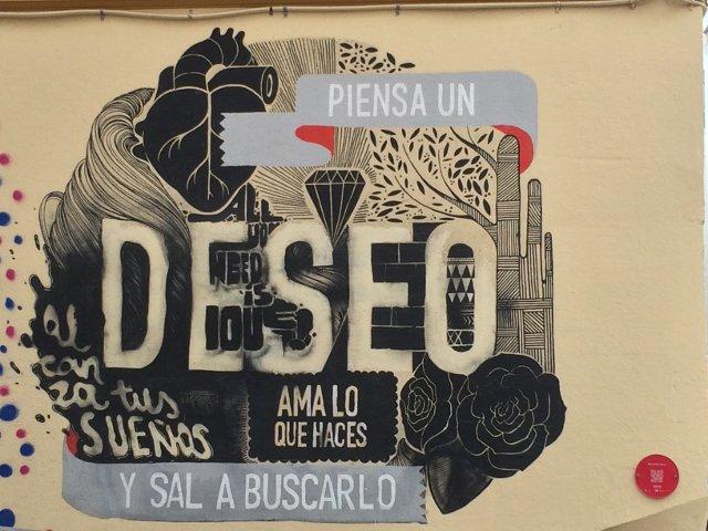 El arte callejero en Soho, parte de Malaga hipster
