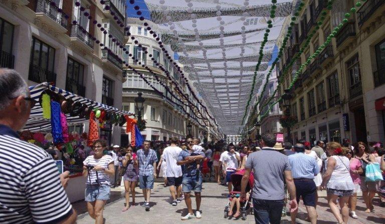 La Feria de Málaga en el centro