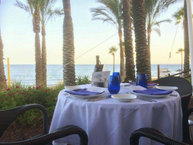 Nuestra mesa en Kempinski Hotel Bahía Estepona durante el Ronqueo del Atún