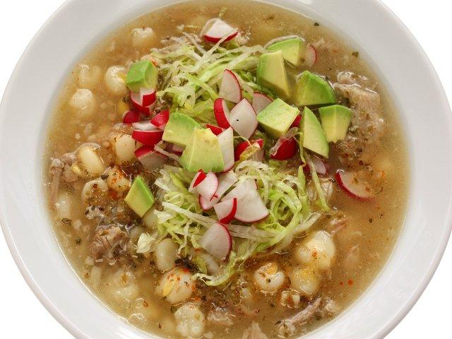 Pozole, típico de la cocina mexicana