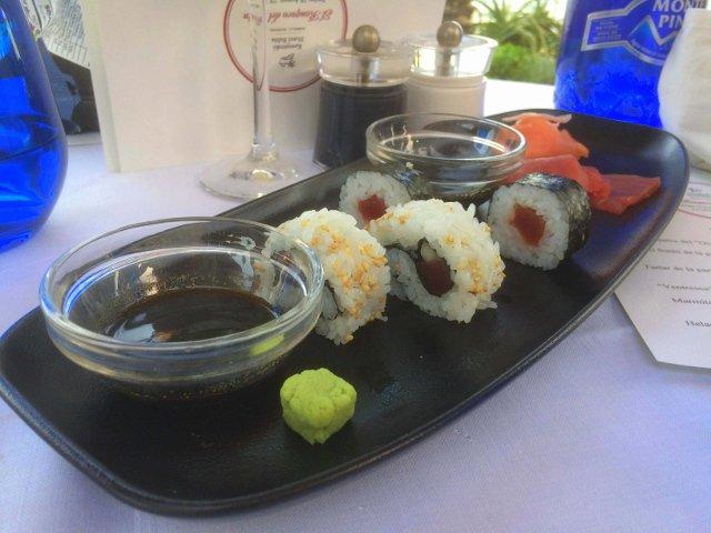 Sushi de atún en Kempinski Hotel Bahía Estepona durante el Ronqueo del Atún