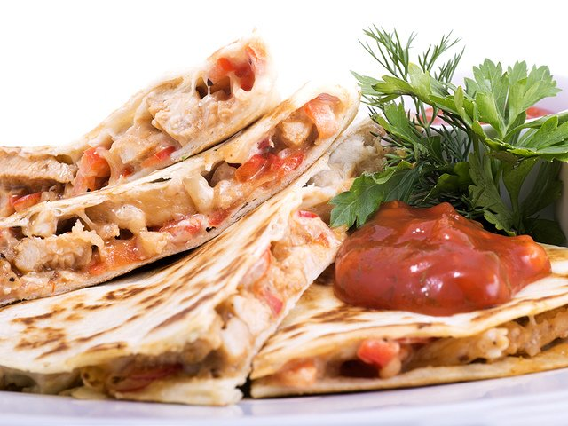 Auténticas quesadillas como parte de la cocina mexicana
