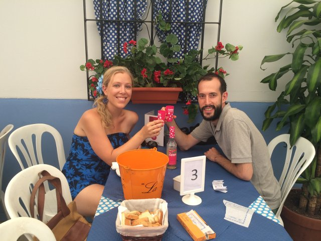 Disfrutando de la Feria de Málaga en el Real
