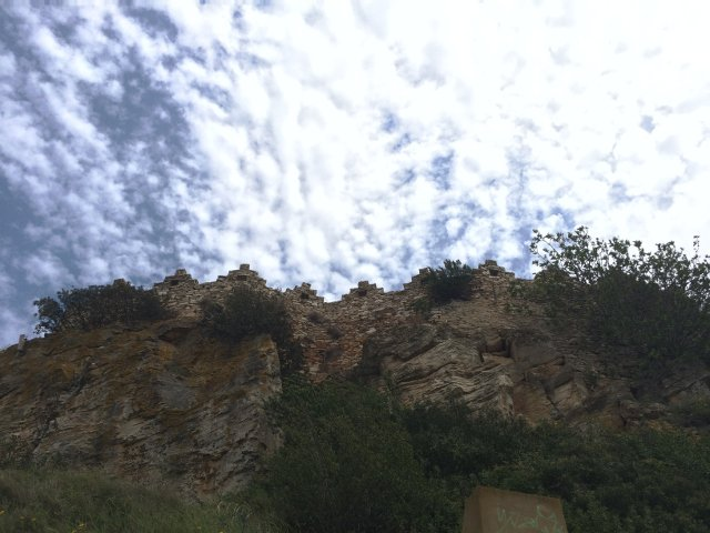 Arriving at the Castle of Begur, Costa Brava