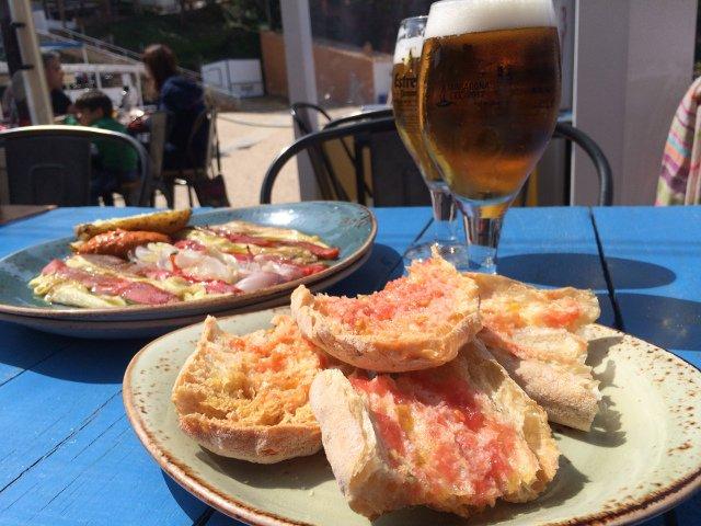 Entrantes en el Restaurante Toc al Mar en Begur