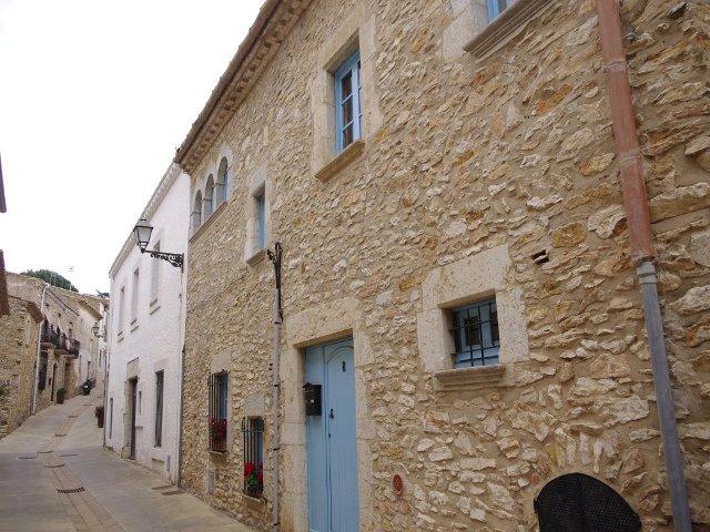 Streets of Begur on the Costa Brava of Catalonia