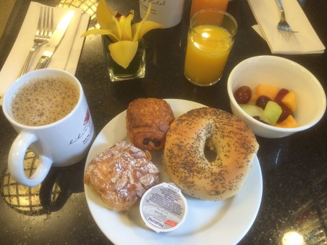 Breakfast at the Library Hotel New York