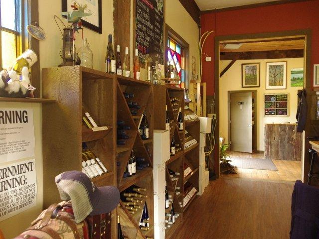 Interior of tasting room at Barnstormer Winery