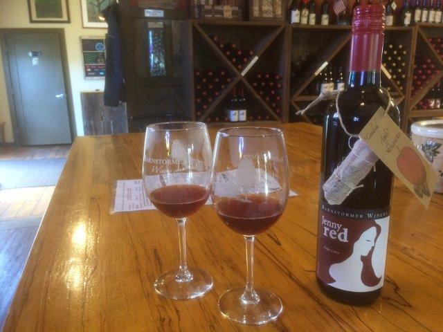 Mulled wine at Barnstormer Winery