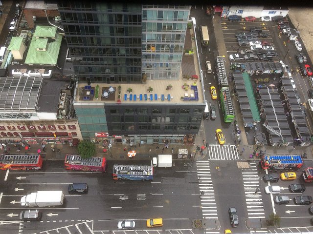 Street view from the 27th floor of the Riu Plaza New York