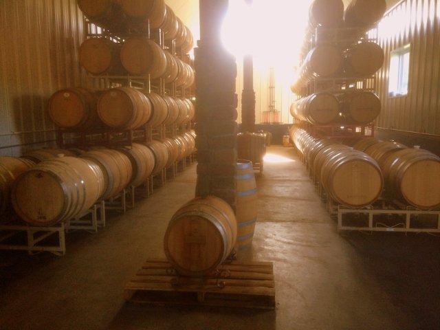 The barrels at Lakewood Vineyards Finger Lakes New York