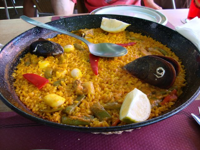 A rice dish on the Costa Blanca