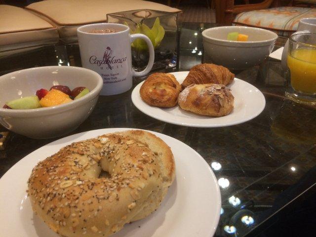 Breakfast at the Casablanca Hotel New York