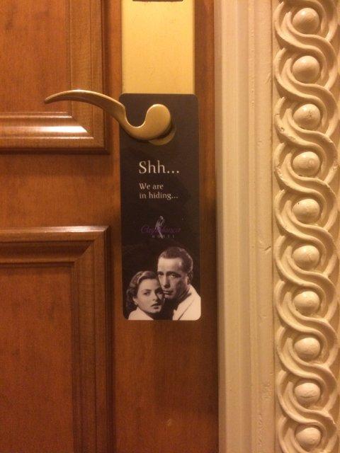 Casablanca Hotel New York do not disturb sign