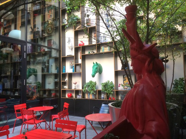 Patio of citizenM Hotel New York Times Square