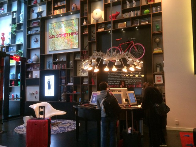 Reception at citizenM Hotel New York Times Square