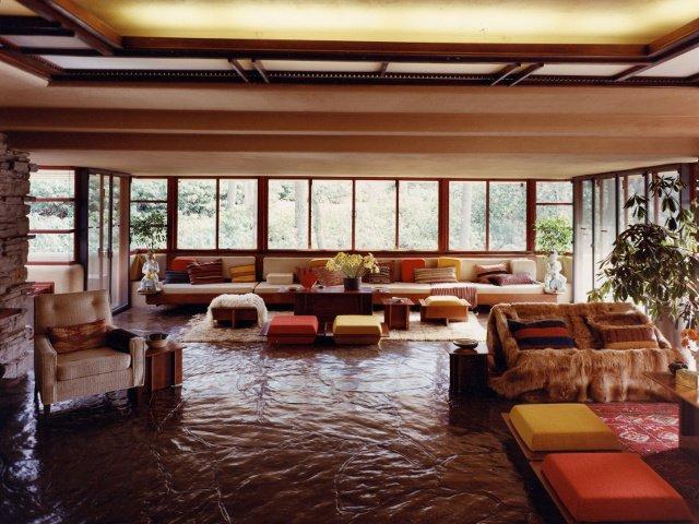 Salón Ruschak en La Casa de la Cascada, Pennsylvania