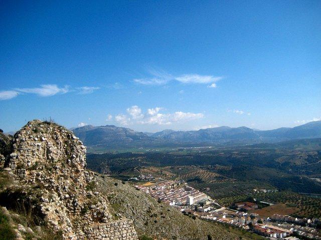 Views from the castle of Archidona Málaga