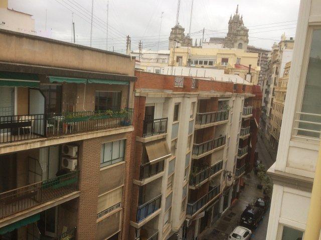 Vistas desde la ventana del apartamento Muchosol en Valencia