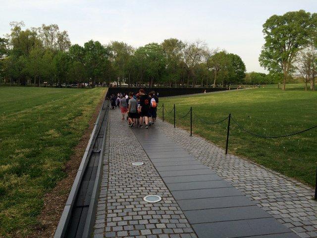 Memorial a los veteranos de la Guerra de Vietnam en Washington DC