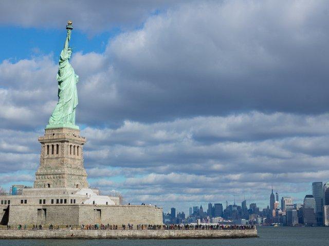 Estatua de Libertad en Nueva York, un destino visitado por los españoles