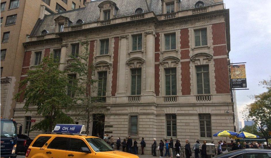 Exterior de Neue Gallery en Nueva York
