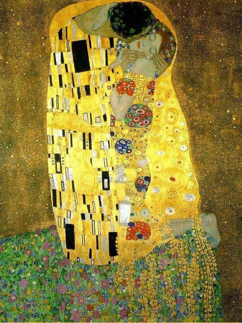 Painting by Gustav Klimt part of a temporary exhibit at the Neue Galerie