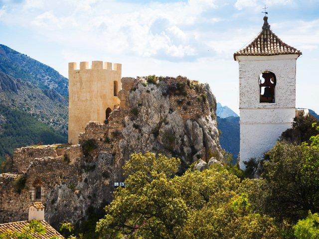 Castillo de Guadalest cerca de Benidorm