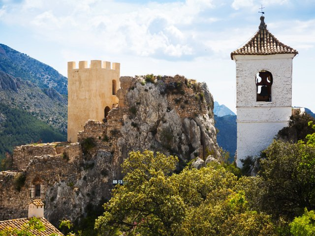 Castle of Guadalest near Benidorm