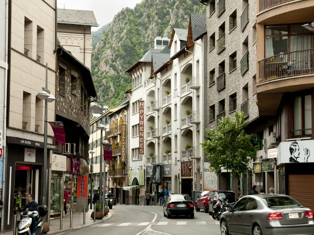 Shopping in the capital city of Andorra