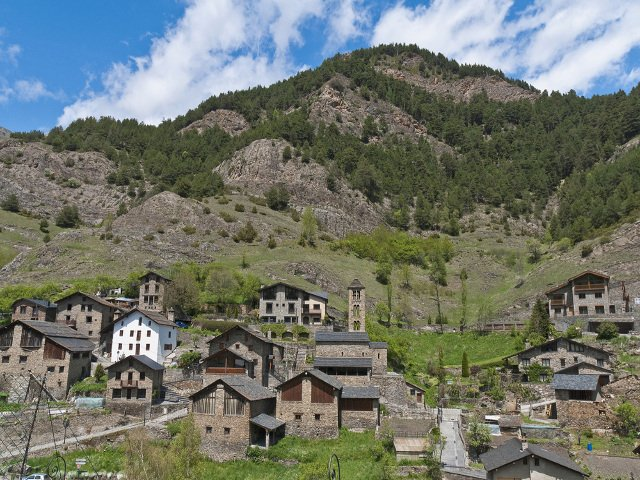 The medieval town of Pal in Andorra