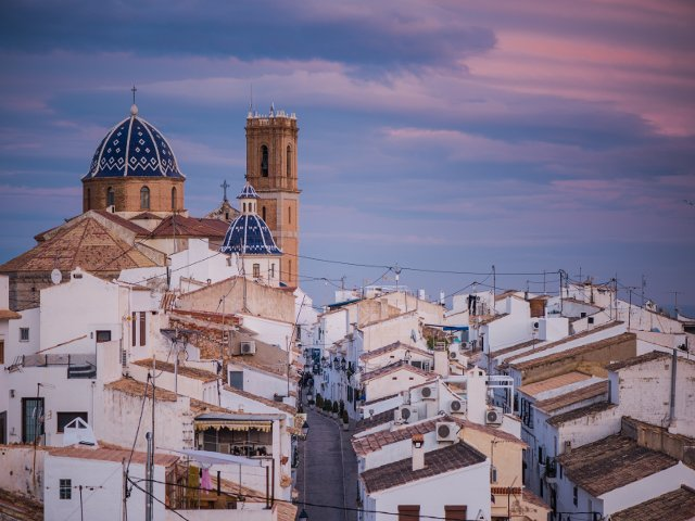 The town of Altea near Benidorm