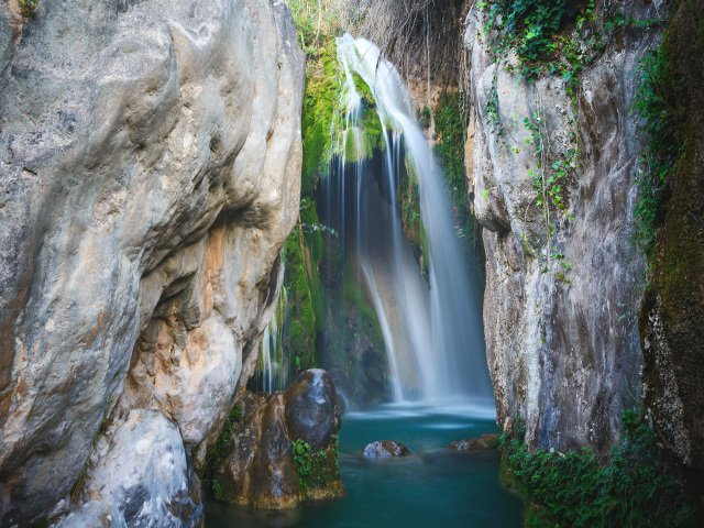 The waterfalls of Algar near Benidorm