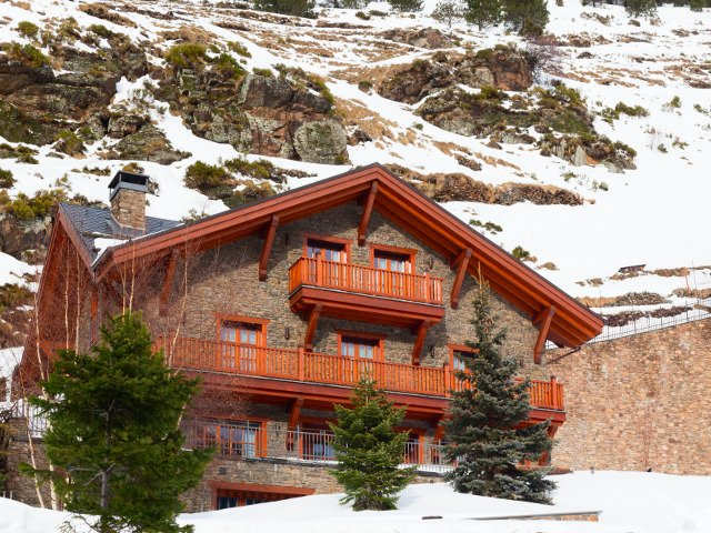 The wooden house in Soldeu Andorra