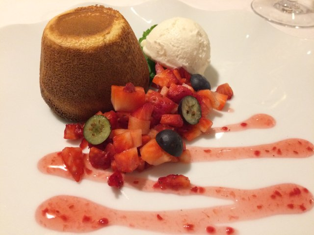 Dessert at Cases Noves Guadalest