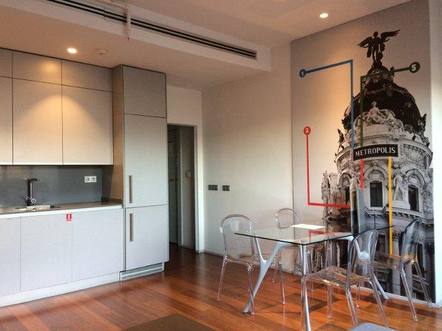 Interior cocina en Eric Vökel Madrid Suites