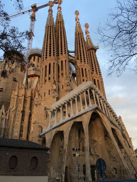 The Sagrada Familia near OK Apartment Barcelona