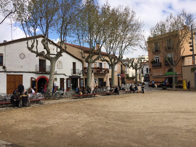 Town of Alella plaza on the Catalan Countryside Day Trip with Devour Barcelona