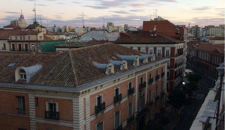 Vistas de la terraza de los Eric Vökel Madrid Suites