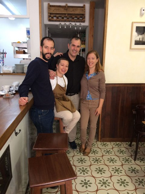 Con Teresa y David en La Abacería de David