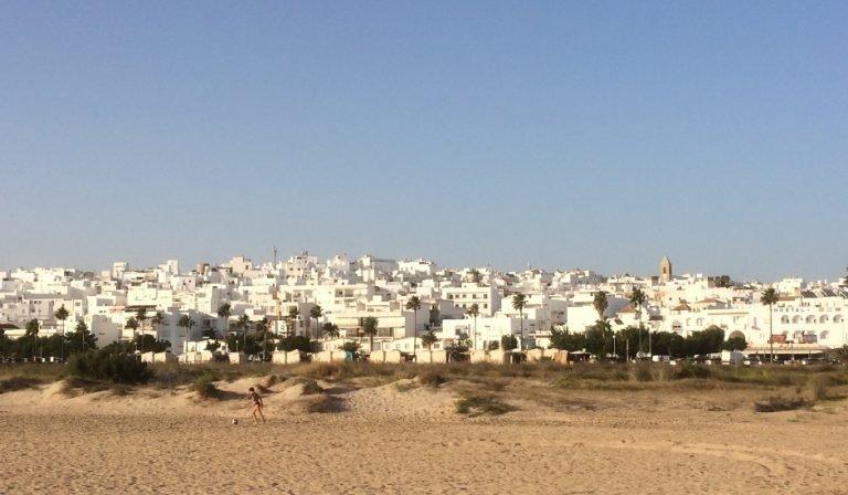 Conil de la Frontera visto desde la Playa