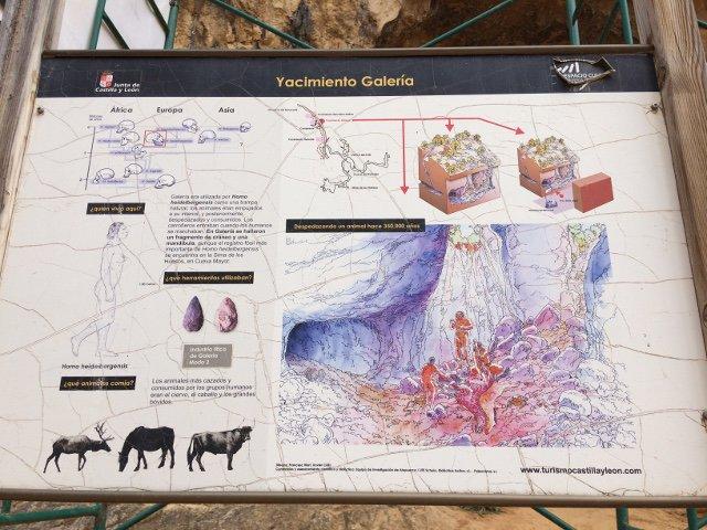 Yacimiento Galeria en Atapuerca Burgos