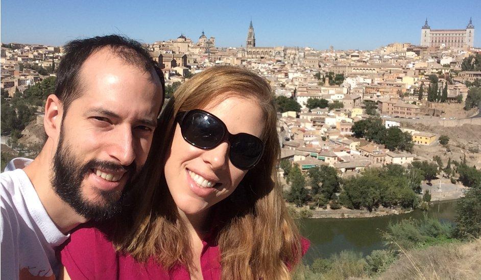 Pedro y Abby en Toledo