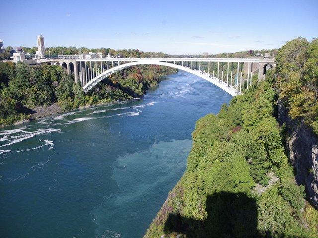 Puente del Río Niágara donde están las Cataratas del Niágara