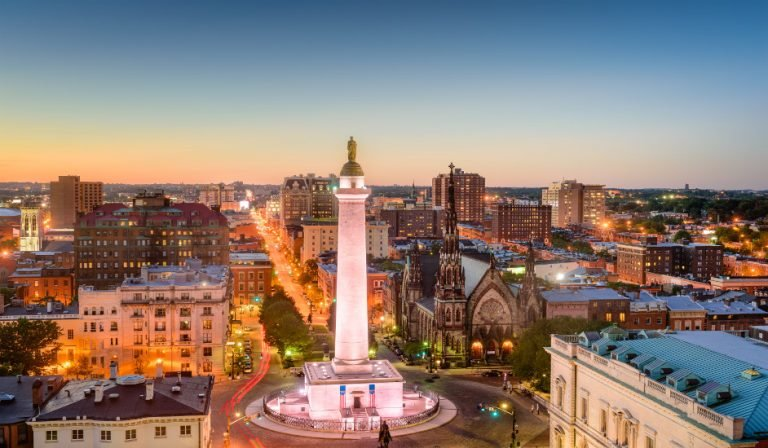 Vistas de Baltimore, una ciudad con mucho que ver